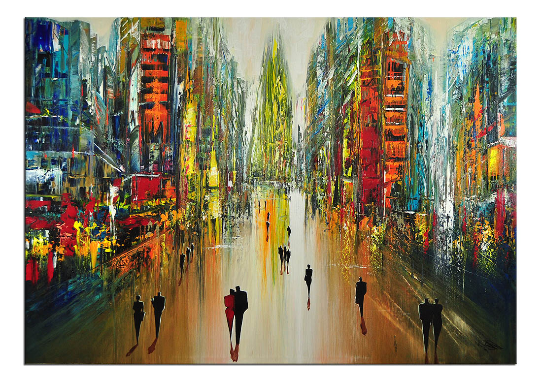 Moderne malerei von k namazi metropolis calling ii for Bilder modern art