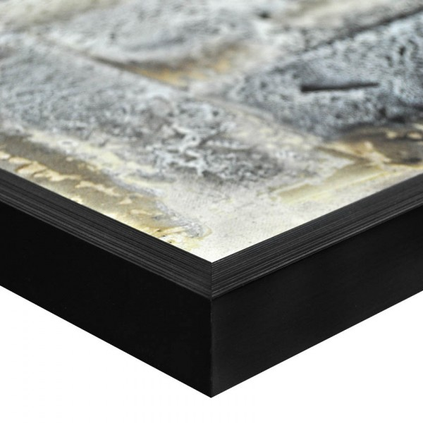 Premium Bilderrahmen, Fotorahmen schwarz HR-22912-sg, inkl. entspiegeltem Echtglas
