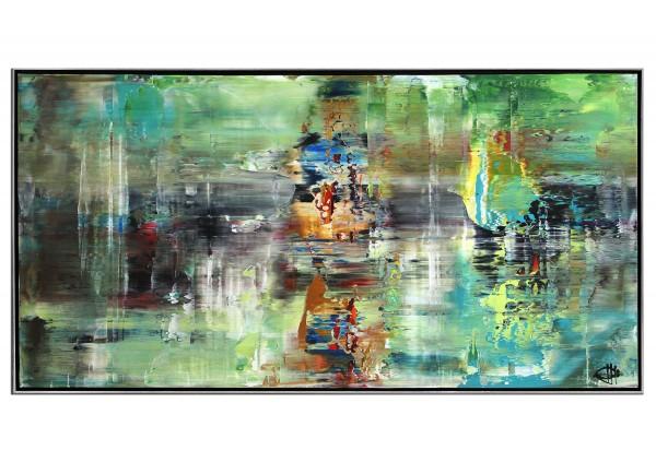 "Acrylgemälde, G. Hung: ""Langzeitbelichtung I"" (ri)"