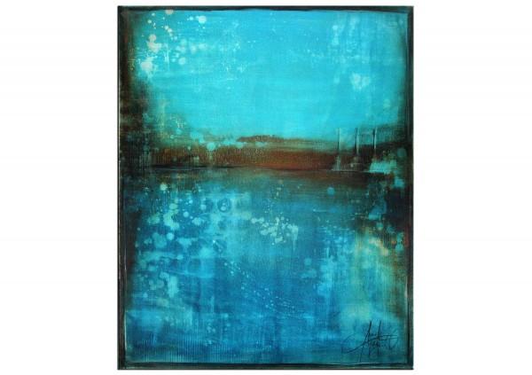 """Acrylbilder abstrakt, A. Freymuth: """"Seascape"""" (A)"""