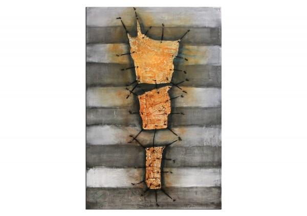"Acrylmalerei abstrakt, A. Freymuth: ""Archaic II"", Originalgemälde (Unikat)"