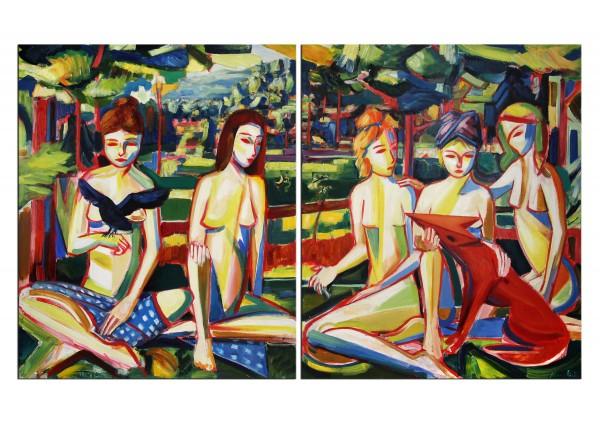 Neoexpressionistisches Ölgmälde