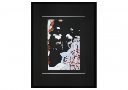 """Surrealistische Collage, F. Lorenz: """"Behind"""""""
