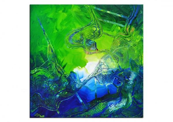 """Acrylgemälde, A.Garbe: """"FREI II"""" (E)"""