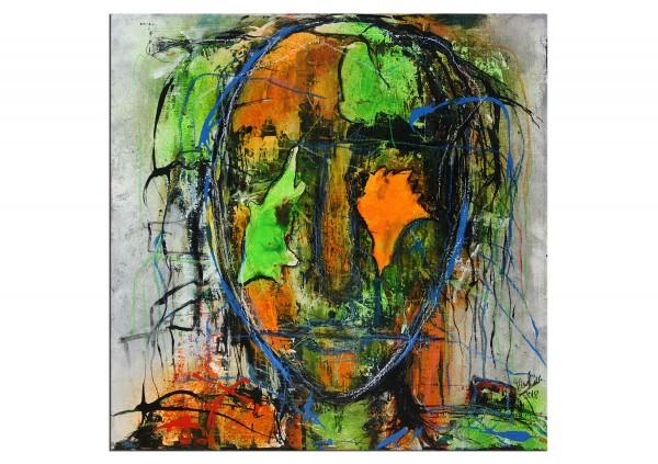 "Expressive Acrylmalerei, I. Schmidt: ""Freigeist"""