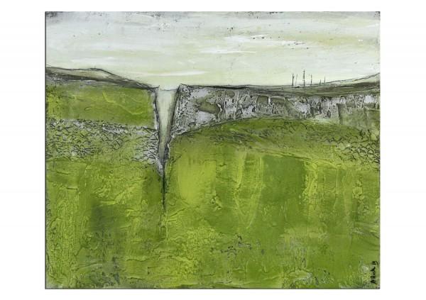 """Abstrakte Acrylmalerei, M.Rick: """"Landscape grün"""" (A)"""