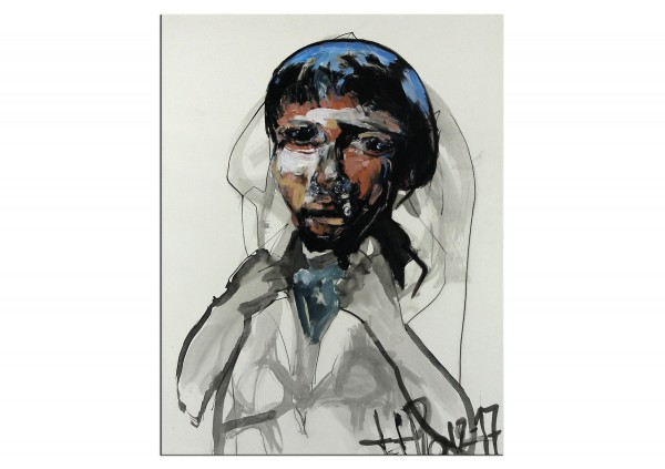 """Neoexpressionismus, Porträt, J.J. Piezanowski: """"Le jeune homme á l'agneau"""""""