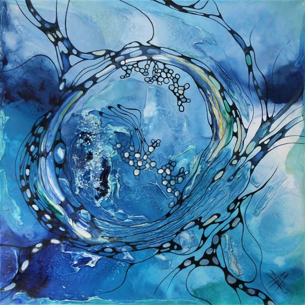 """B. Ossowski: """"Blue Lagoon"""", Originalgemälde (Unikat)"""