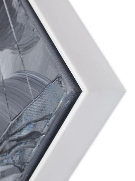 Premium Schattenfugenrahmen weiß SR-36614-w, Bilderrahmen Holz, modern