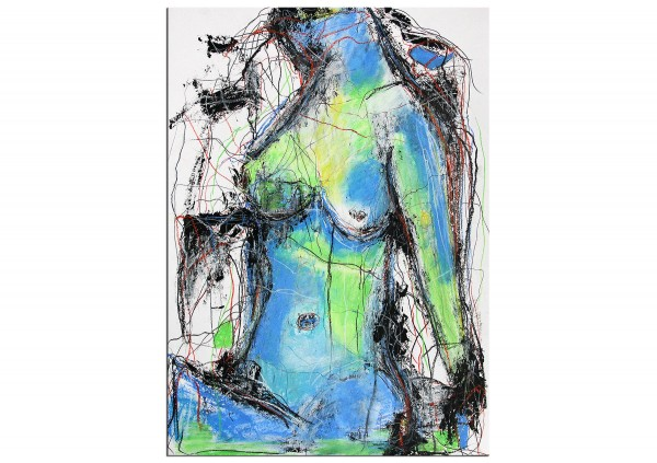 "Zeitgenössische Grafik/Malerei, Ilona Schmidt: ""Blaue Stunde III"""