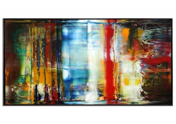 "Acrylgemälde, G. Hung: ""Nightshot. Framed I"" (ri)"