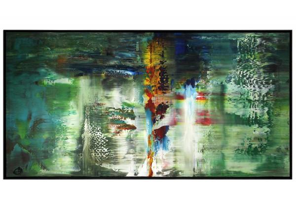 """Acrylgemälde, G. Hung: """"Langzeitbelichtung IV (Regen)"""""""