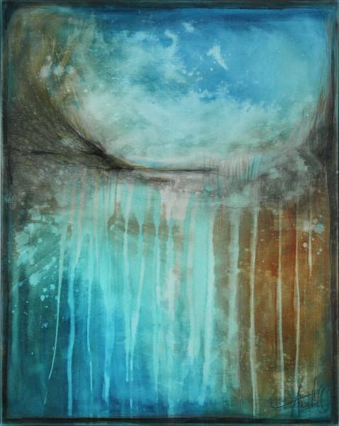 "Originalgemälde (Unikat), A. Freymuth: ""Waterfall"" (A)"