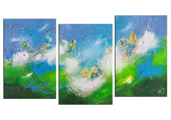 """Mehrteiliges Gemälde, Maya: """"EIN IRISCHER SOMMERTAG"""""""