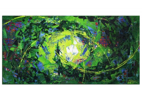 "Gemälde abstrakt, R.König: ""Kryptische Dynamik I"""