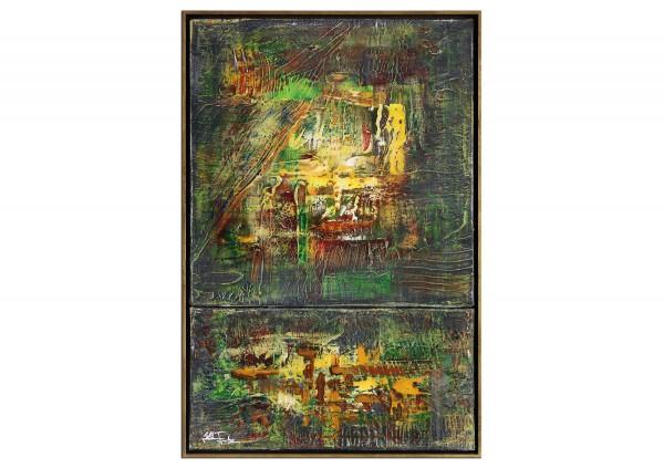 """Modernes Kunstbild, Julio Fernandez: """"Sonnengötze"""" (ri)"""