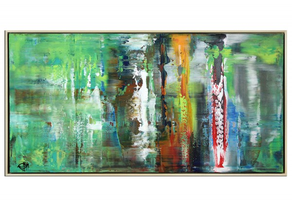 "Acrylgemälde, G. Hung: ""Langzeitbelichtung II (Regen)"" (ri)"