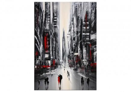 """Modernes Gemälde, K. Namazi: """"Urbane Gegensätze III"""" (E)"""