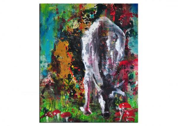"Acrylgemälde, C. David Schwartz: ""HOLY COW"""