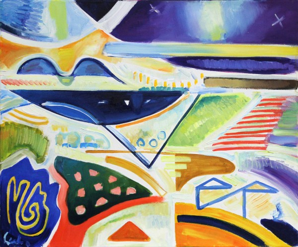 "M. Cieśla: ""Abstraktion - Inspiration aus der Toskana"", Original/Unikat, Expressionistisches Ölgemäl"