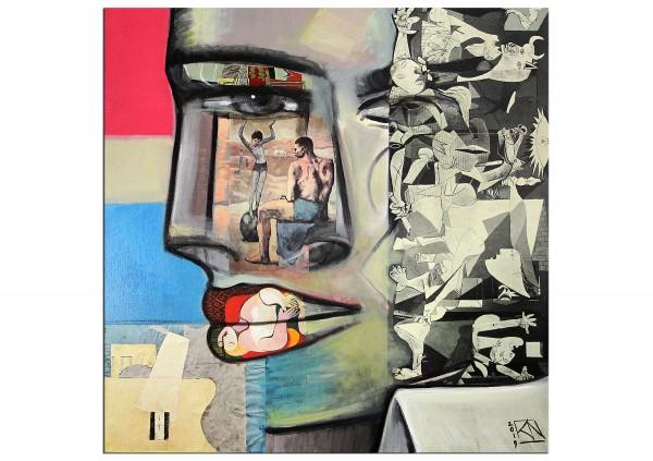 "Modernes Gemälde von K. Namazi: ""War & Peace"", Originalgemälde (Unikat) (A)"