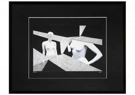 """Surrealistische Collage, F. Lorenz: """"Bodies"""""""