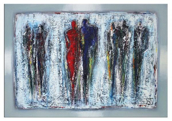 "Modernes Gemälde, K. Namazi: ""Zusammenhalt III"", Originalgemälde (Unikat) (A)"
