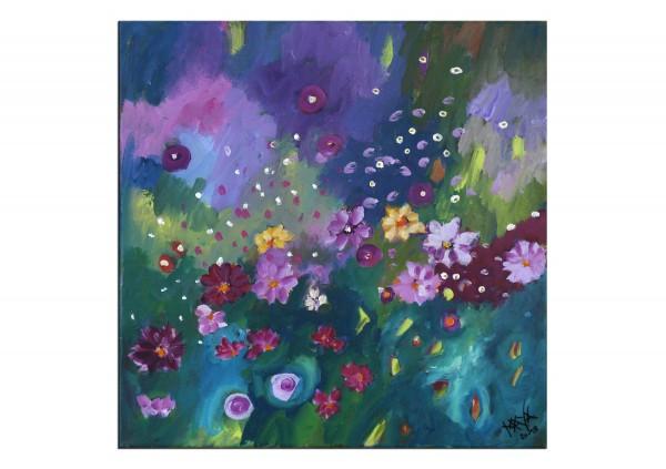 "Acrylbilder, Maya: ""Herbstblumen"""