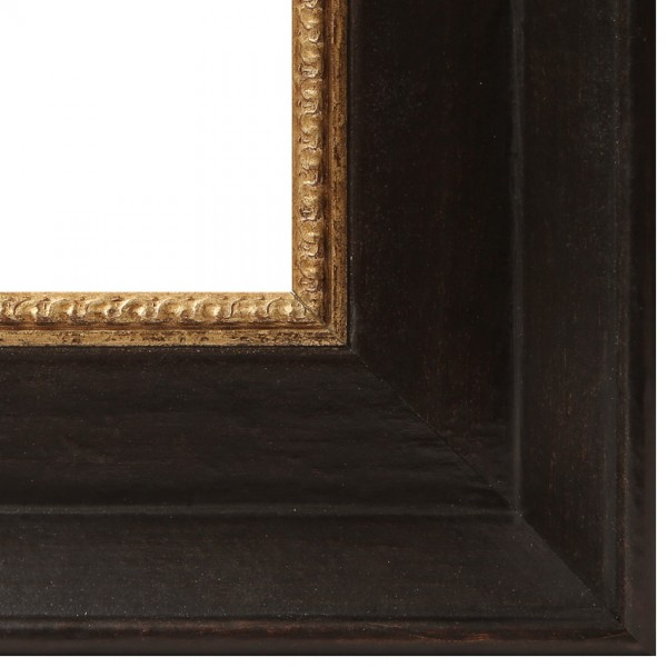 Premium Bilderrahmen Holz schwarz/gold HR-910015-sg, inkl. Blendrahmbleche