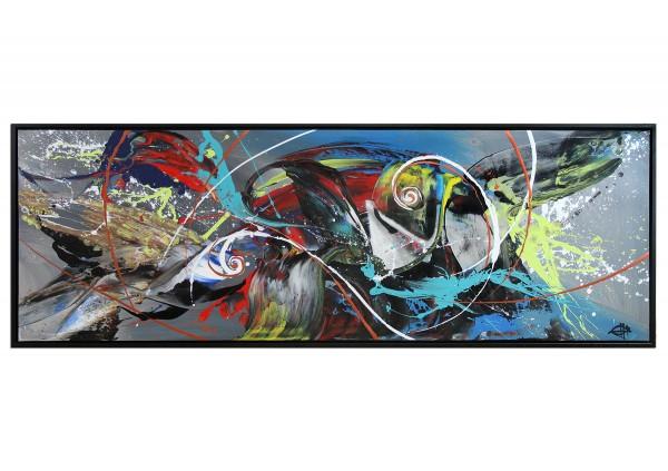 "Acrylgemälde, G. Hung: ""Kampf der Elemente"""