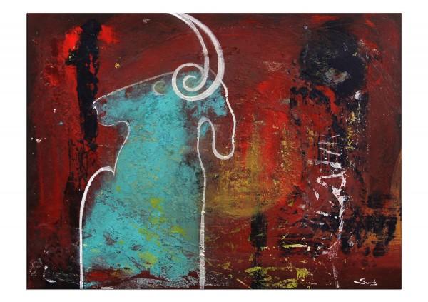"""Moderne Malerei, C. David Schwartz: """"Cabra turquesa"""", Originalgemälde (Unikat)"""