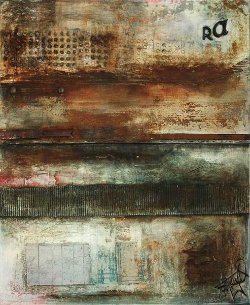 """Mischtechnik/Collage (Unikat), A. Freymuth: """"Spuren des Gebrauchs"""", Original (A)"""
