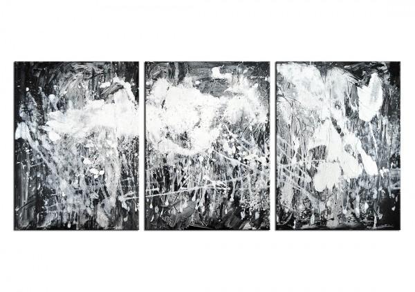 """Mehrteiliges Gemälde, C.D. Schwartz: """"WINTERFELD"""""""