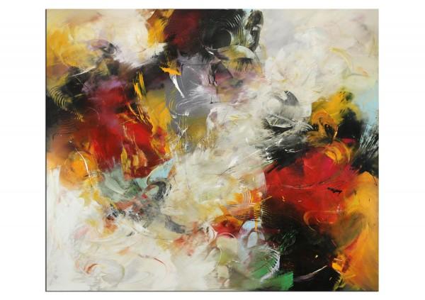 """Abstrakte Acrylmalerei, C. Middendorf: """"Weltentraum I"""" (A)"""