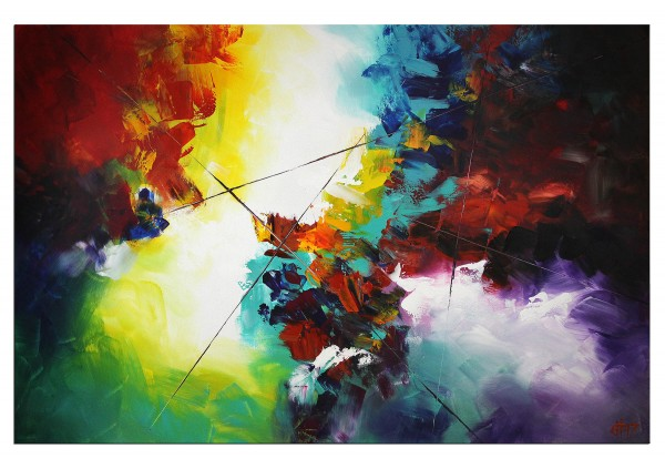 "Abstrakte Kunstbilder, G. HUNG: ""Gott der Farbe IV"""