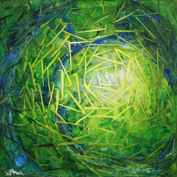"Abstraktes Originalgemälde (Unikat), R.König: ""Jungle Patterns"" (ri)"