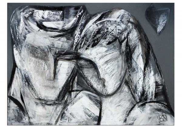 """Modernes Gemälde, K. Namazi: """"Szenen einer Liebe I"""""""