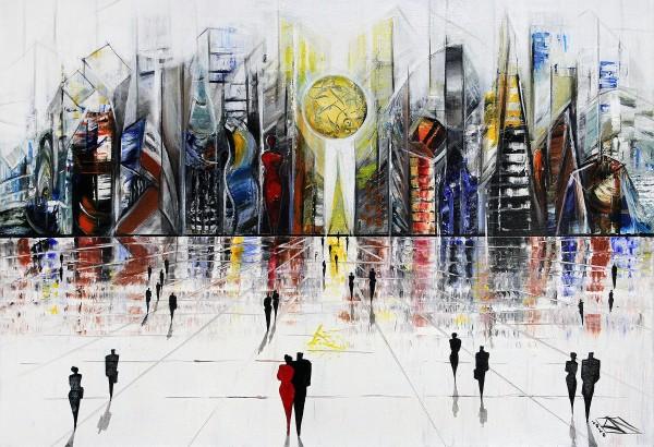 "K. Namazi: ""Art City IV"", originales Acrylgemälde (Unikat) (A,ri)"