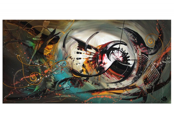 "Expressives Acrylgemälde, G. Hung: ""Antimaterieeffekt I"""