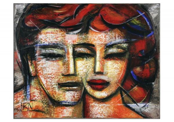 "Figurative Kunstbilder, K. Namazi: ""Seelenpartner I"""