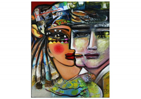 """Abstrakte Kunstbilder, K. Namazi: """"TwoFace I"""""""