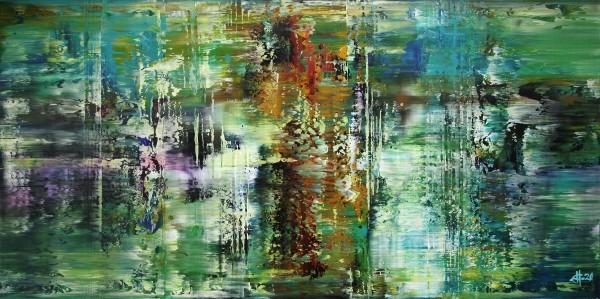 "G. HUNG: ""Exciting Metropolis I"", abstrakte Originalkunst (Unikat)"