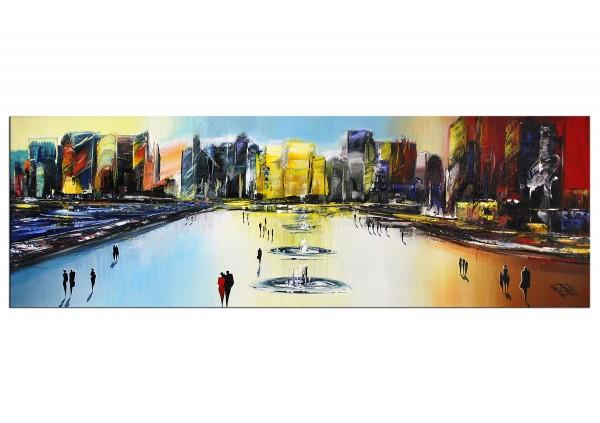"Modernes Gemälde, K. Namazi: ""Moderne Oase I"" (A)"