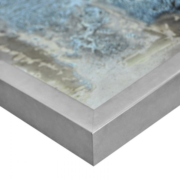 Premium Bilderrahmen Holz silber HR-201062-s, inkl. Blendrahmbleche