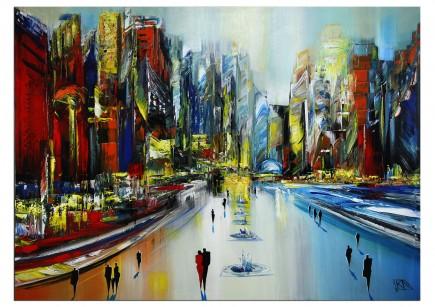 "RESERVIERT: Modernes Gemälde, K. Namazi: ""Future City II"" (ri)"