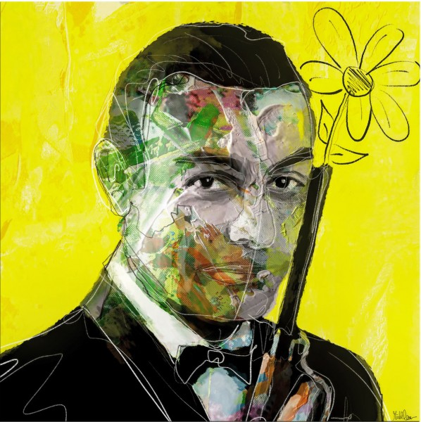 "Moderne Pop Art (serielles Unikat), Holger Mühlbauer-Gardemin: ""The real 007"", Original"
