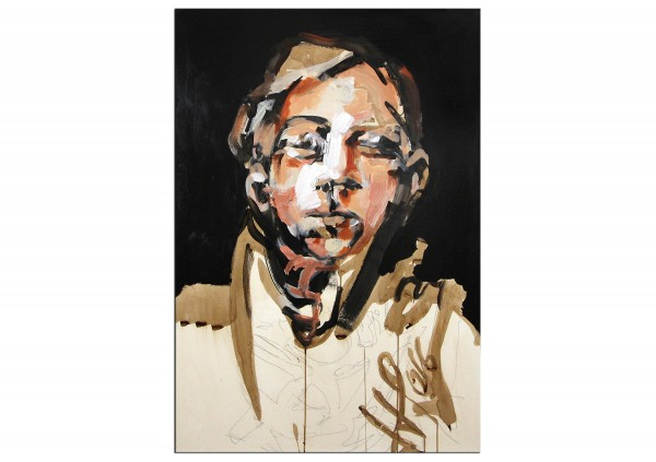 """Neoexpressionismus, Porträt, J.J. Piezanowski: """"A s'imaginer meilleur..."""", Originalgemälde (Unikat)"""