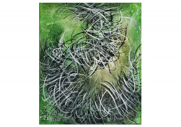 """Abstrakte Acrylbilder, A. Freymuth: """"Unausgesprochen"""" (A)"""