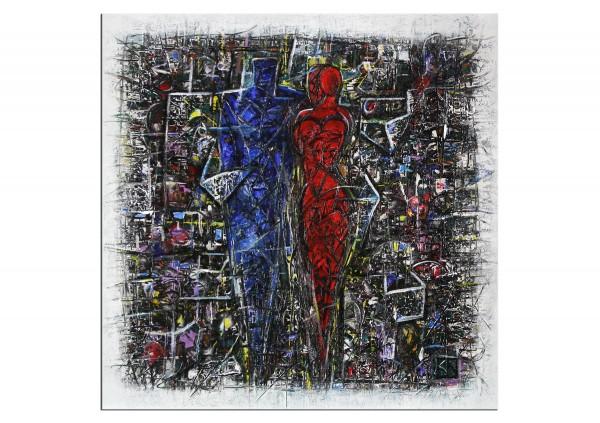 """Modernes Gemälde, K. Namazi: """"Liebesbindung"""" (A)"""