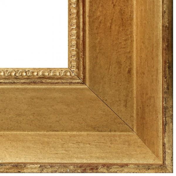 Premium Bilderrahmen Holz gold antik HR-910063-g, inkl. Blendrahmbleche